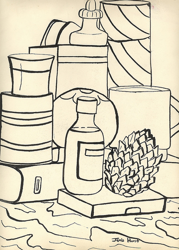 Contour Line Drawing Of Still Life : Artsparks project links and websites art